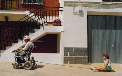 Cristóbal Hara en el seminario de fotoperiodismo de Albarracín.